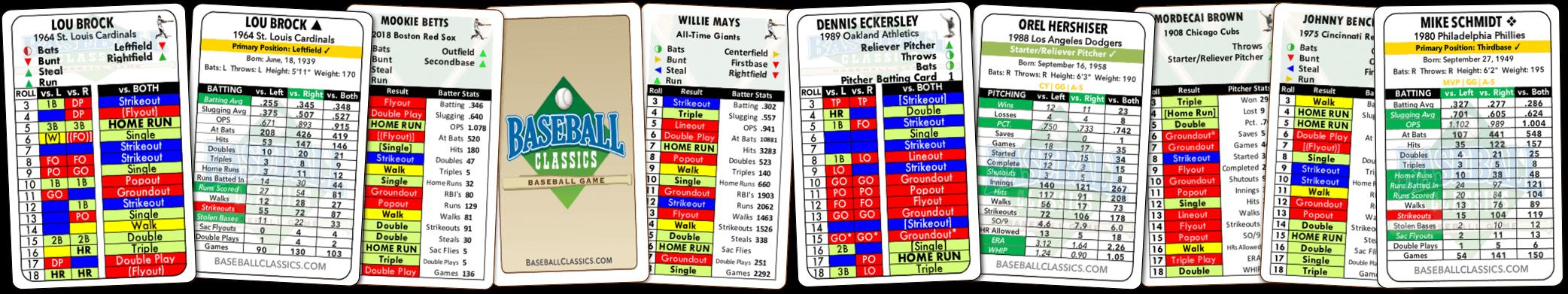 Baseball Classics Card Spread
